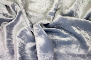 Frosted Viscose Velvet - Blue