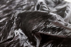 Crushed Viscose Velvet - Black