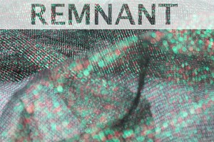 REMNANT - Red and Green Lurex Mesh - 1m piece