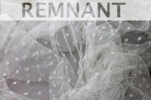 REMNANT - Spot Tulle - Ivory - 4m piece