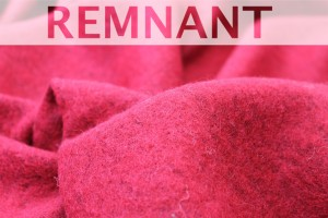 REMNANT - Boiled Wool Jersey Knit - Red - 2.6m piece