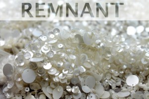 REMNANT - Mixed Sequins On Tulle - Ivory - 0.3m piece