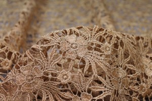 Guipure Lace - Daisy - Gold