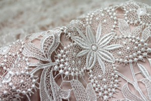 Guipure Lace - Off White Floral