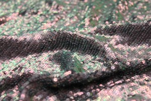 Overlapping Sequin On Silk Chiffon - Iridescent Mauve