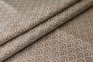 Banaras Brocade - Cream and Gold Scale Pattern