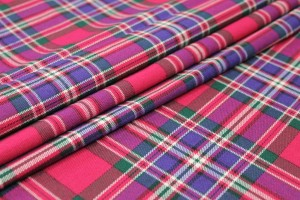 Stretch Tartan - Pink, Multi