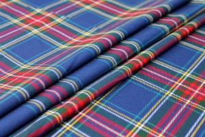 Stretch Tartan - Royal Blue, Multi