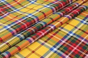 Stretch Tartan - Yellow, Multi