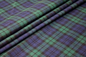 Stretch Tartan - Blue, Navy and Green