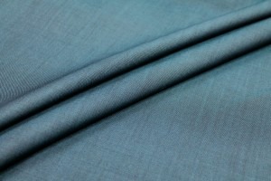 Lightweight Wool Mix Suiting - Teal Tonic