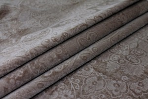 Embossed Cotton Velvet - Mink