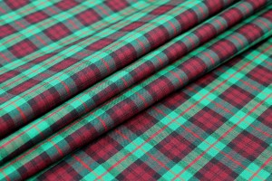 Wool Tartan - Red, Green