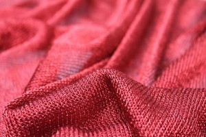 Fine Metallic Thread Knit - Red