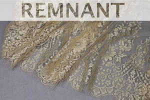 REMNANT - Soft Gold Metallic Leavers Lace - 1.45m piece
