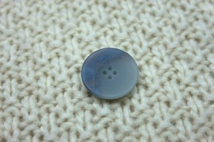 Blue Iridescent Button
