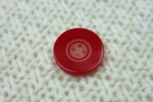 Red Resin Button- Large