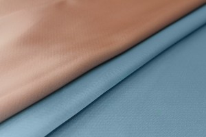 Double Sided Satin - Pale Blue / Salmon