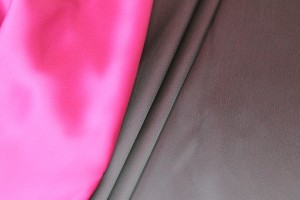 Double Sided Satin - Navy Blue / Magenta
