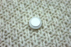 Ivory and Cream Resin Button