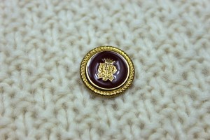 Vintage Military Button - Red