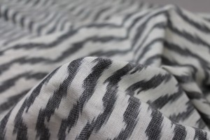 Light Weight Cotton Ikat - Off-white and Grey