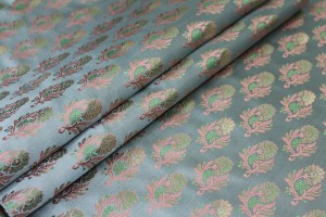 Soft Banaras Brocade - Pale Blue, Green and Pink