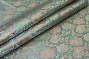 Soft Banaras Brocade - Pale Green, Blue and Peach