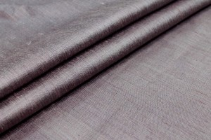 Mauve Textured Raw Silk