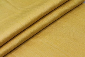 Yellow Textured Raw Silk