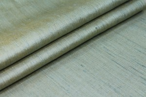 Sage Green Textured Raw Silk
