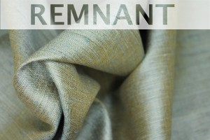 REMNANT - Sage Green Textured Raw Silk - 0.45-0.5m piece