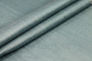 Dusty Blue Textured Raw Silk