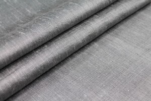 Grey Textured Raw Silk