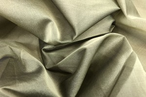 Silk Organza - Olive Shot Black