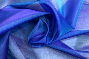 Silk Organza - Purple shot Turquoise