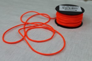 Polyester Lacing Cord - Neon Orange - 20m roll