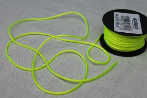 Polyester Lacing Cord - Neon Yellow - 16m roll
