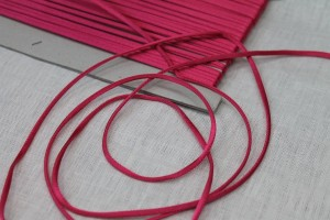 Polyester Lacing Cord - Pink - 23m roll
