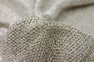 Textured Metallic Thread Knit - Pale Gold