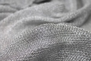 Textured Metallic Thread Knit - Silver