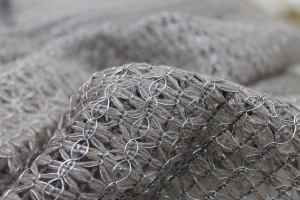 Metallic Thread Texture Weave - Grey / Silver