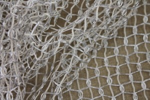 Metallic Thread Texture Weave - Off White / Silver