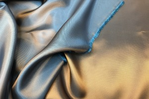 Gold shot Turquoise Viscose Twill Lining