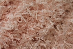 """Faux Feather"" Fabric - Pale Pink"