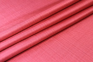 Textured Weave Linen - Coral