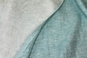 Reversible Two-Tone Linen - Minty Blue