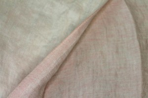 Reversible Two-Tone Linen - Pale Pink
