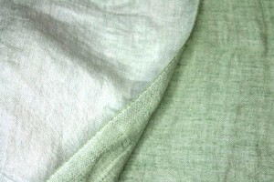 Reversible Two-Tone Linen - Pale Green