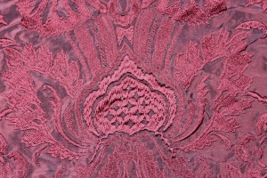 Heavy Jacquard Style Embroidery - Red